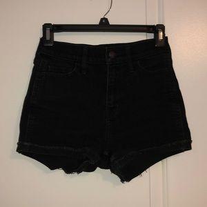 Hollister Black Denim Shorts
